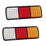 lzn 1 Paar 75 LEDs Rückleuchten Stoppanzeige 12 V Anhänger Lkw Boot Lampe