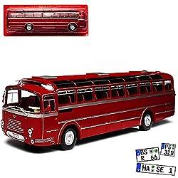 Atlas Van Hool VHF 306 Rot Bus 1/43 Modell Auto