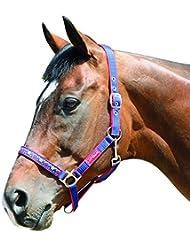 Harry Hall Galaxy - Cabezada textil para ponis, color azul marino