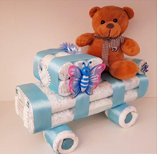 Windel Auto,Windelauto,Windeltorte, Pampers Gr.3, Baby Geburt, Geschenk zum Taufe, Babyparty Junge
