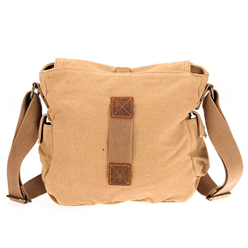 Borsa del messaggero militare del sacchetto dello zaino del messaggero di iRULU degli uomini di iRULU (cachi) cachi