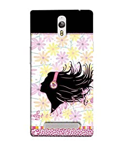 PrintVisa Designer Back Case Cover for Oppo Find 7 (multi colored flowery decorated musical)