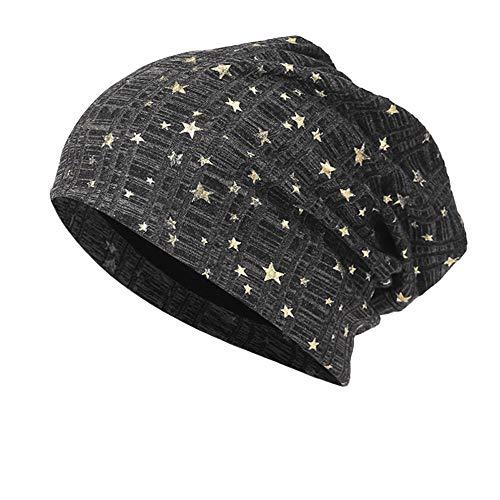 t Mütze Warme Häkelarbeit Winter Stricken Ski Beanie Skull Slouchy Caps Hut Reversible Bicolor für Damen und Herren Wintermütze ()