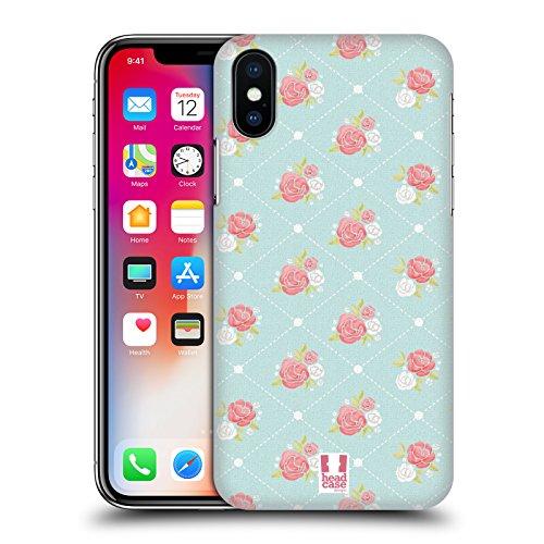 Head Case Designs Palette Pattern Campagna Francese Cover Retro Rigida per Apple iPhone X Sfondo Di Rose