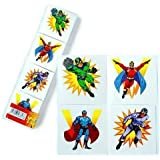Super Hero Tattoos - Pack of 48