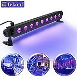 UV LED-Beleuchtung, Elfeland Schwarzlicht (9 LEDs x 3W AC100-240V) Partylicht Effektlicht Bühnenbeleuchtung für Club Party Karneval Disco Ballsaal Bühne