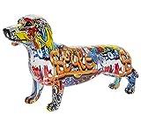 Leonardo Collection - Figura Decorativa de Perro Salchicha con diseño de Grafiti