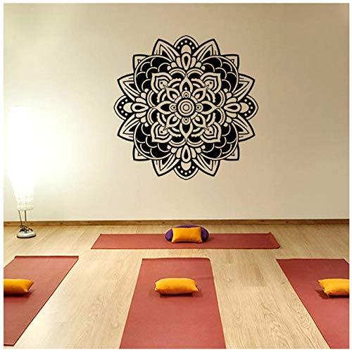 Indiana Yoga Wandtattoos Mandala Meditation Ornament Wandaufkleber Vinyl Wandhauptabziehbilder 57X57 Cm -