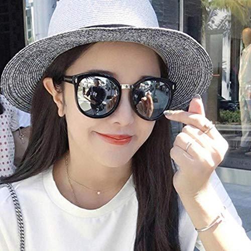 Persönlichkeit Flut koreanischen Männer und Frauen Mode Sonnenbrillen, Farbfilm kann mit Kurzsichtigkeit Sonnenbrille große Kiste hell schwarz umrandeten schwarzen und grauen Stück, hell schwarz umra