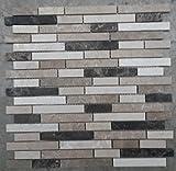 Naturstein Matte Fliesen 30x30 cm 8 mm Mosaik Braun Beige Mix Marmor M019