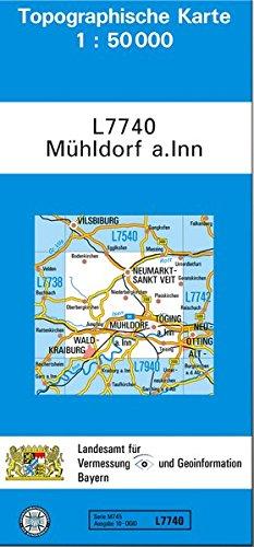 Topographische Karte Bayern.Free Topographische Karten Bayern L7740 Mühldorf A Inn 1 50t Pdf