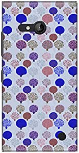 The Racoon Lean printed designer hard back mobile phone case cover for Nokia Lumia 730. (Blue Tree)