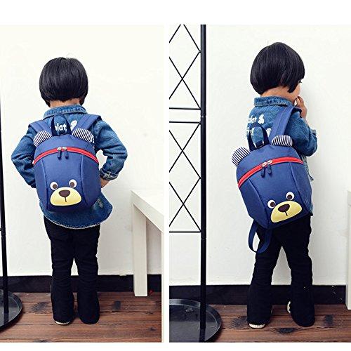 *FRISTONE Mini-sac à dos école Maternelle Enfant Bébé Filles tout-petit Sac Garçons Kindergarten Backpack Toddler avec sangles de sécurité,Bleu Marine Offre de prix