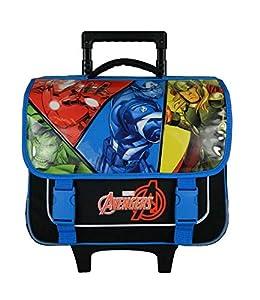 Bagtrotter AVNI18COMI Avengers Comi - Carrito Escolar (38 x 14 x 33 cm), Color Azul