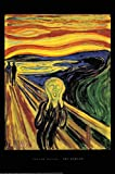 Edvard Munch the Scream Poster Der Schrei (61cm x 91,5cm) + Original tesa Powerstrips® (1 Pack/20 Stk.)