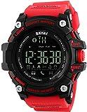 Findtime Herren Digital Quarz Smartwatch Silikon Fitness Tracker Bluetooth Schrittzähler