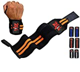 2fit Power Gewichtheben Wrist Grip Support Wraps Gewichtheben Orang