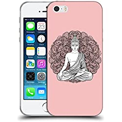 GoGoMobile TPU Gel Funda Carcasa Tapa Case Cover para // Q09990610 Buda sentado 10 Bebé rosa // Apple iPhone 5 5S 5G SE