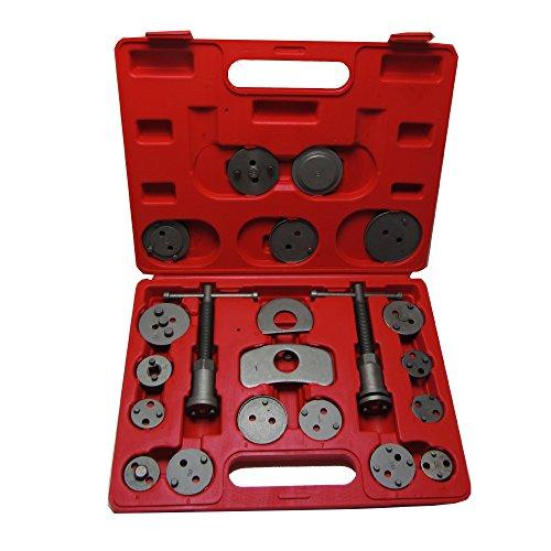 JOM 127413 Bremskolbenrücksteller/Kolbenrücksteller, 22-Teilig mit linksdrehender und rechtsdrehender Spindel, im Kunstoffkoffer