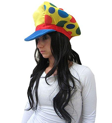 t - Große Schaum Clown-Masken-Hut in gelb, blau und rot mit Spots (Große Schaumstoff-hüte)
