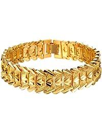 131cc796c51e Amazon.es  Oro amarillo - Pulseras   Hombre  Joyería