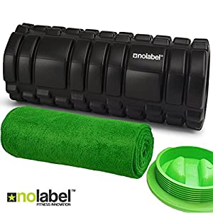 Black Foam Roller - Muscle Roller Trigger Point Sports Release - Pro-Series Massage Roller Great Post Workout - Improve Your Range Of Movement | Yoga
