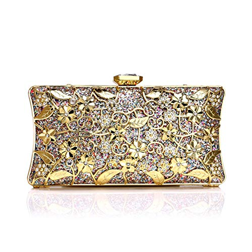 QJXSAN Abendtasche Luxusmode High-End Bankett Metallbeutel Damen Handtasche Abendtasche UmhäNgetasche Kettenschloss