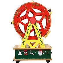 iPenty Caja Infantil de Música Caja de música de Madera Mini Colorido Bellamente Pintado Forma de