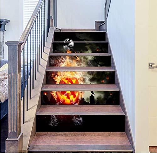 DFGTHRTHRT 3D Simulation Treppenaufkleber entfernbare Wasserdichte Wandaufkleber Schlafzimmer Wohnzimmer DIY Tapete Wandabziehbilder (Color : WLT010, Size : OneSize)