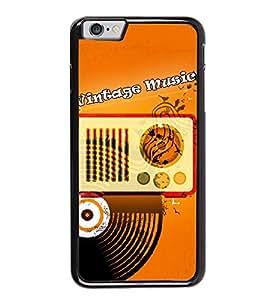 Fuson Radio Record Music Designer Back Case Cover for Apple iPhone 6 Plus :: Apple iPhone 6+ (Parish Wonder Vintage Eiffel Tower Car Bike Scooter Cassette Coffee)
