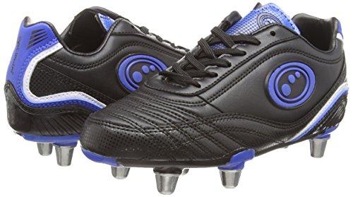 Optimum Blaze 3, Chaussures de Rugby garçon Noir (Noir/bleu)