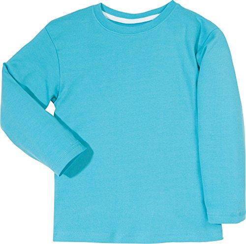 Kinderbutt Langarmshirt Interlock-Jersey Türkis