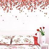HhGold Das Wohnzimmer Wand Aufkleber Plakate und gemütliche Schlafzimmer Ehe Zimmer Wände verzierte Decke Dach Dach Fries Sockelleisten Line-, 60 * 40 cm Pfirsich