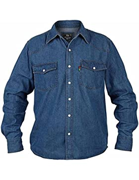 Duke - Linea Kingsize - Western - Camicia in jeans - Uomo