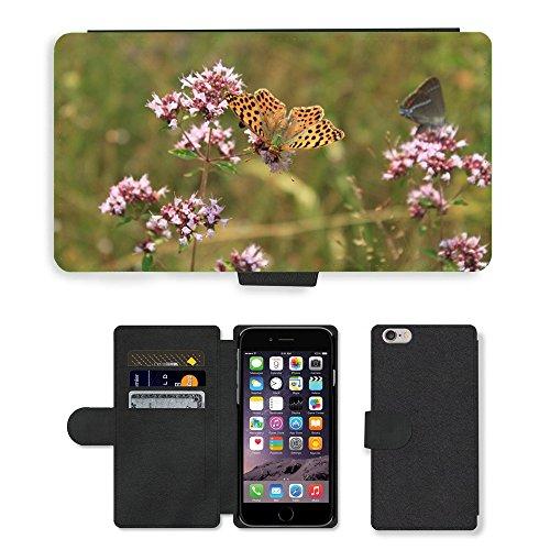 Just Mobile pour Hot Style Téléphone portable étui portefeuille en cuir PU avec fente pour carte//m00138764papillon nacré gorj issoria//Apple iPhone 6Plus 14cm