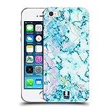 Head Case Designs Aquamarine Schimmerndes Marmor Soft Gel Hülle für iPhone 5 iPhone 5s iPhone SE