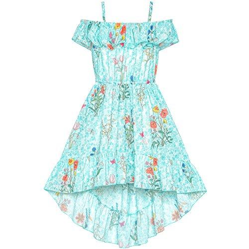 Mädchen Kleid Aus Schulter Chiffon Flora Hallo-Low Party kleiden Gr. 134