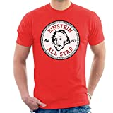 Cloud City 7 Albert Einstein All Star Converse Logo Men's T-Shirt