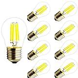 Lampadina di Vintage Filament a LED E27 6W, Edison E27, G45 LED E27 Edison,Luce Bianca Freddo 6000K (8-pack)