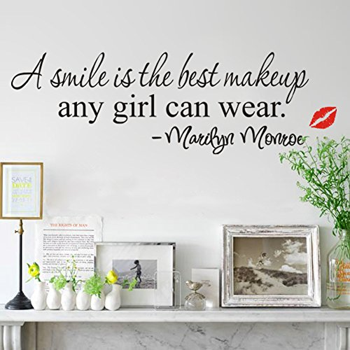 zooarts-smile-best-make-up-beauty-girls-quote-wall-decal-sticker-vinyl-mural-decor-diy