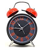 #1: Twin Bell Multicolor Table Alarm Clock With Night Led Display - 7 Inches (Random Color)