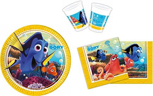 52 tlg. Findet Nemo 2 Findet Dorie Finding Dory Fische Geburtstagsset Set Geburtstag (Teller, Becher, Servietten)