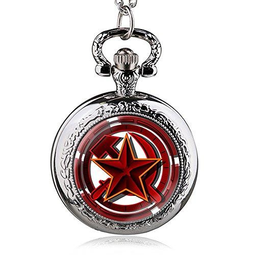 HWCOO Taschenuhren Russische Symbol Quarz Taschenuhr Großhandel Wand Diagramm Uhren (Color : 2)