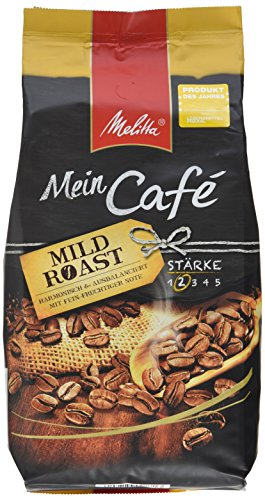 Preisvergleich Produktbild Melitta Ganze Kaffeebohnen,  harmonisch und ausbalanciert mit fein-fruchtiger Note,  Stärke 2,  Mein Café Mild Roast,  1kg