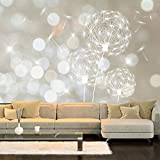 murando - Fototapete 350x245 cm - Vlies Tapete - Moderne Wanddeko - Design Tapete - Wandtapete - Wand Dekoration - Pusteblume Blumen bokeh Abstrakt f-C-0040-a-b