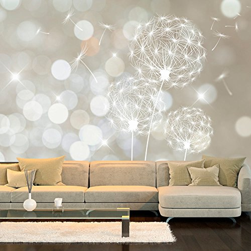 #murando – Fototapete 350×245 cm – Vlies Tapete – Moderne Wanddeko – Design Tapete – Wandtapete – Wand Dekoration – Pusteblume Blumen bokeh Abstrakt f-C-0040-a-b#