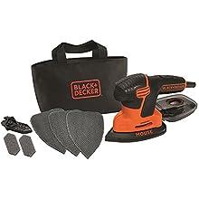 Black + Decker KA2000GB Mouse Sander with Three Mesh Sheets, 120 W, Orange