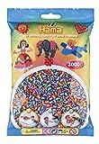Hama 201-92 - Beutel mit 3000 Gestreiften Perlen, türkis/Lila/Orange