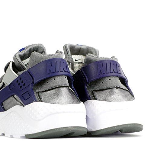 Nike Huarache Run (GS), Chaussures de Running Entrainement Garçon, Noir Multicolore - Gris / Verde (Cl Gry / Grn Strk-Wlf Gry-Dp Ryl)