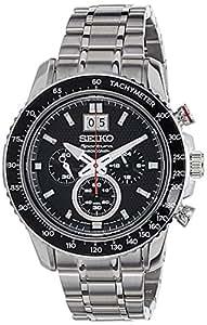 Seiko - SPC137P1 - Montre Homme - Quartz Chronographe - Cadran Noir - Bracelet Acier Gris